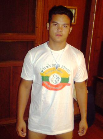Bon Tong Boy wearing the Shan State Earthquake Relief T Shirt