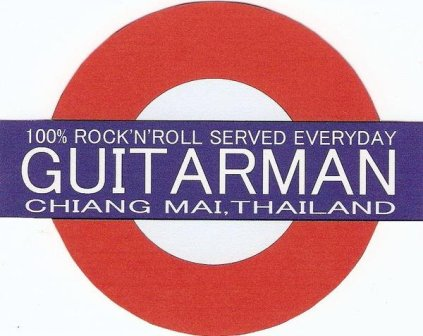 Logo for Guitar Man live music bar in Chiang Mai