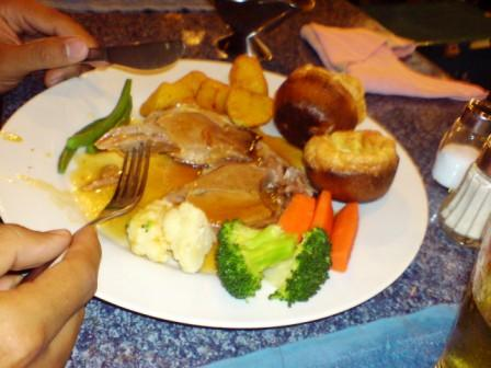Sunday Roast beef at the Pub in Chiang Mai