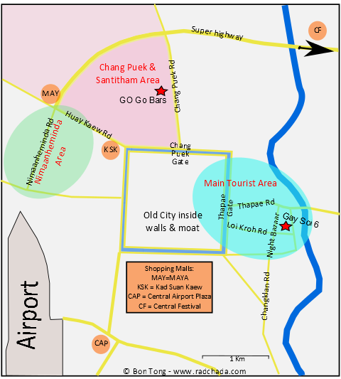 Chiang Mai Gay Map