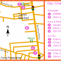 Chiang Mai Gay bar map - Chang Puek district September 2017