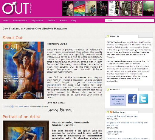 Out in Thailand website