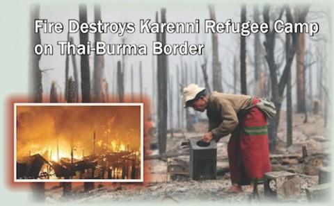 Mae Surin Refugee Camp Fire