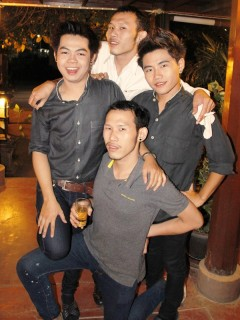 Party Boys at Radchada Gardeen Café