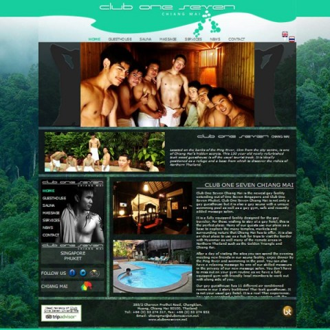 Club One Seven Website - Gay Sauna and Guesthouse in Chiang Mai
