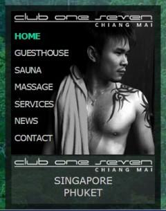 Club One Seven Chiang Mai - Website Menu