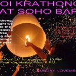 Loy Krathong at Soho Bar Chiang Mai