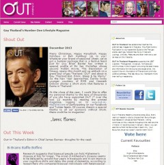 Out in Thailand gay Magazine website - design by Bon Tong Productions