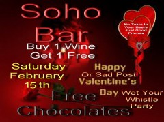 Post Valentines Party at Soho Bar
