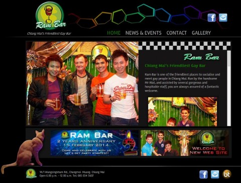 ram bar - chiang Mai's friendliest gay bar - website