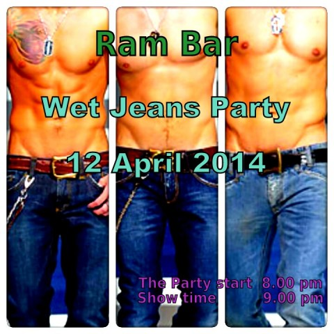 Gay wet jeans party at Ram Bar Chiang Mai