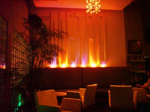 The chic and smart interior of Metro bar Chiang Mai