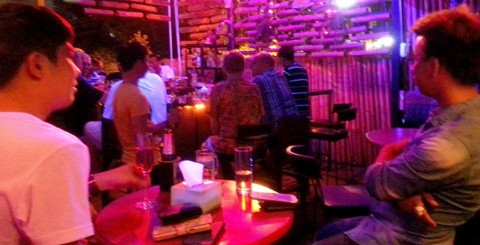A good crowd in at Ram Bar for their Friday night live music and entertainment.