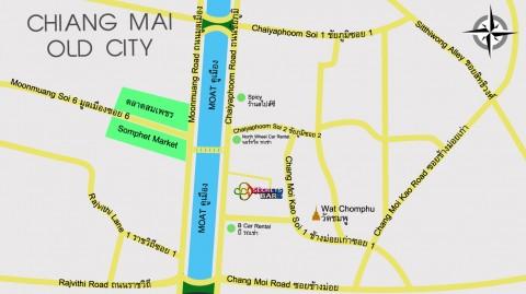 Map showing location of Secrets Bar Chiang Mai