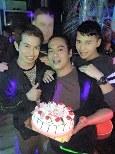 Khun Ray with his Birthday Cake