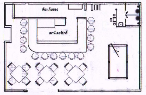 Layout plan for the New Secrets Bar