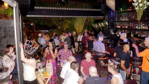Busy night at the New Ram Bar