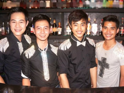 The handsome and friendly staff at Ram Bar Chiang Mai