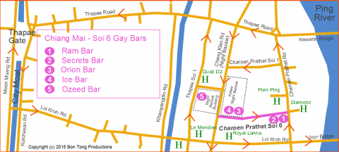gay chiang mai soi 6 map