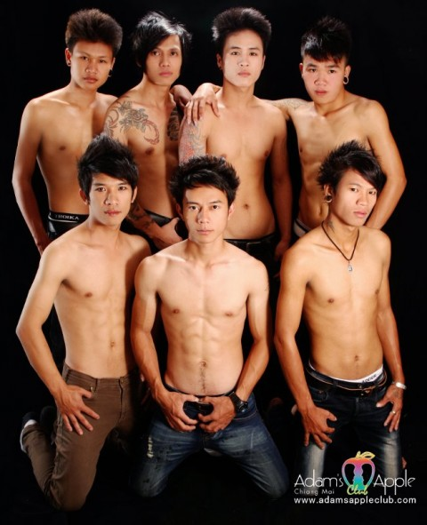Sexy Tai Yai boys in Chiang Mai at Adams Apple Club