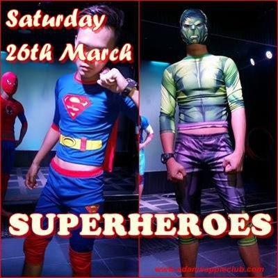 adams apple club gay sexy superheros