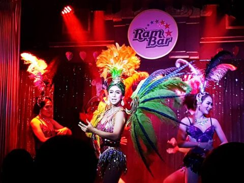 Cabaret Show at Chiang Mai's friendliest Gay Bar - Ram Bar.  Every night