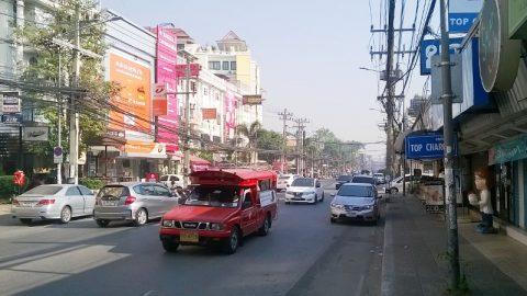 Chiang Mai's busy Nimmanheaminda Road