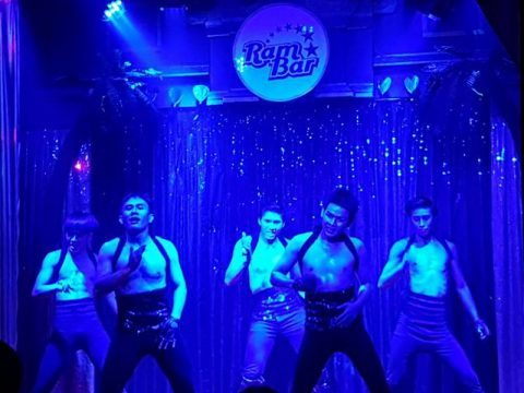 sexy leather boys dancing in ram bar gay cabaret show