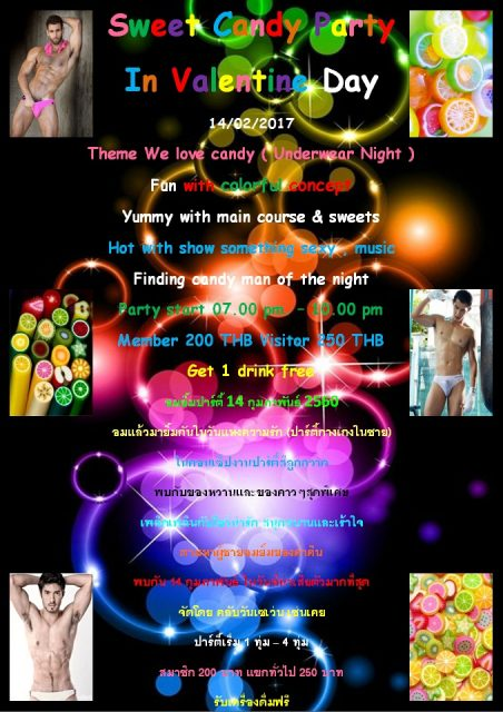 Valentine party club one seven gay sauna Chiang mai