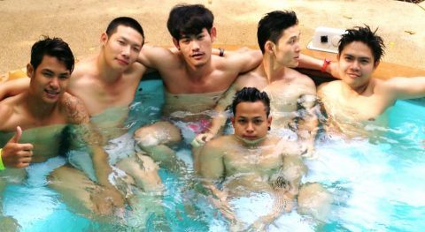 Gay pool fun with sexy guys at club one seven chiang mai