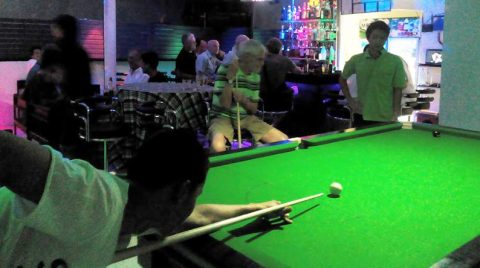 Secrets Gay Bar Chiang Mai - Playing Pool
