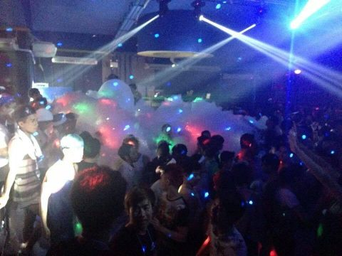 foam party at See Man Pub- Gay club in Chiang Mai
