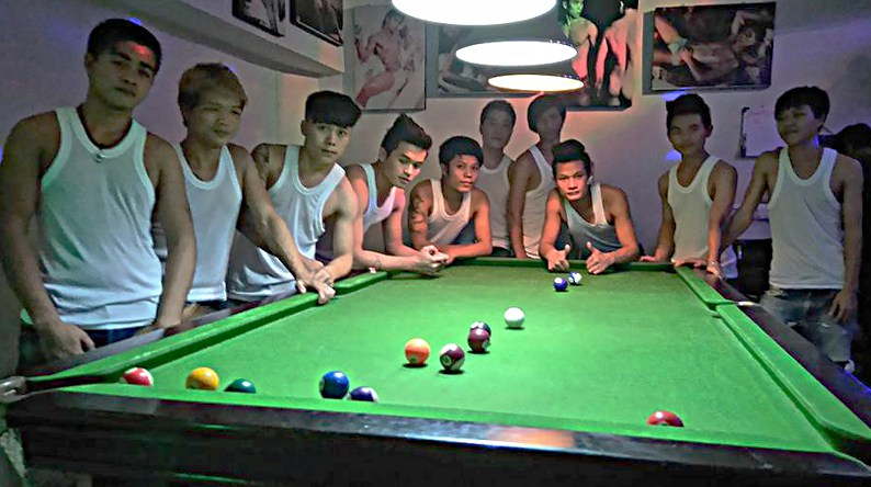 Gay pool table