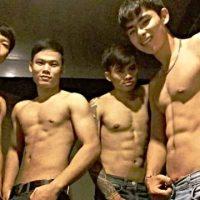 Sexy boys at new my way gay bar in Chiang Mai Thailand
