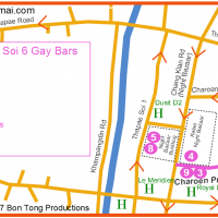 Gay Map - Chiang Mai Night Bazaar July 2017