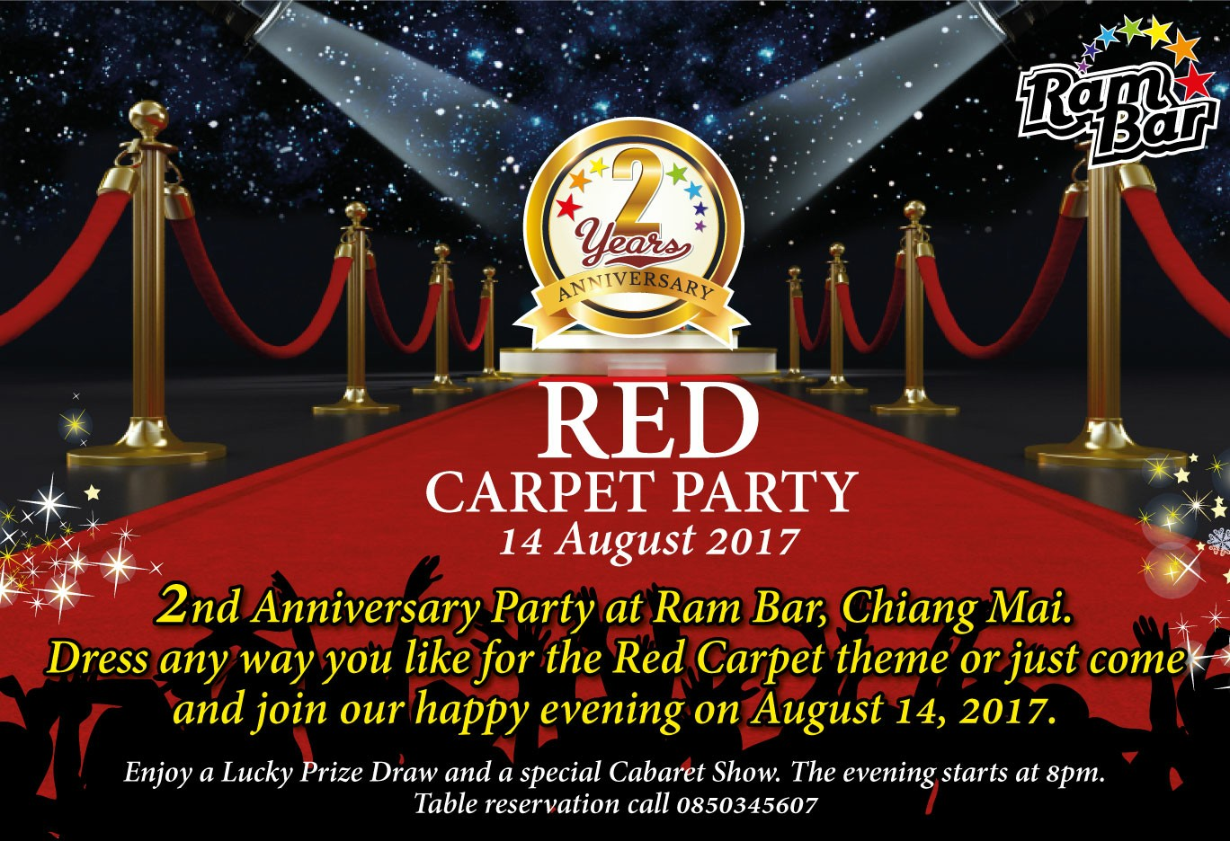 Red Carpet anniversery party at Ram Bar Chiang Mai