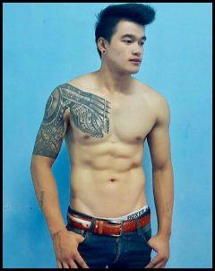 macho masseur guy at common massage chiang mai