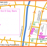 Gay Map of Chiang Mai Night Bazaar December 2017