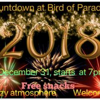 bird of Paradise Chiang Mai Countdown party poster