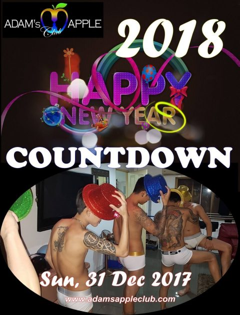 countdown party poster - adams apple club chaing mai 31 December 2017