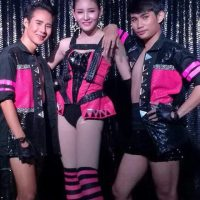 Ram Bar Show Chiang Mai - balck and pink gay boys