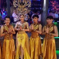 Ram Bar Show Chiang Mai - gay guys in gold dresses