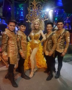 Ram Bar Show Chiang Mai - gold and sequins
