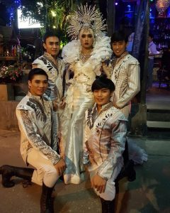 Ram Bar Show Chiang Mai - gay gous in white and sequins