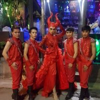 Ram Bar Show Chiang Mai gay devil boys in red