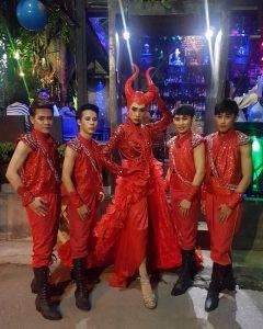 Ram Bar Show Chiang Mai gay devil boys in red