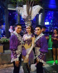 Ram Bar Show Chiang Mai - gay boys in purple costumes