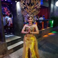 Ram Bar Show Chiang Mai - gold costume