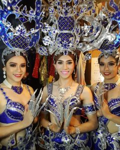 Ram Bar Show Chiang Mai - blue costumes with sequins