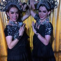 Ram Bar Show Chiang Mai - girls in black and sequins